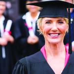 student-older woman grad